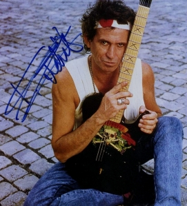 Keith Richards guitar signed
